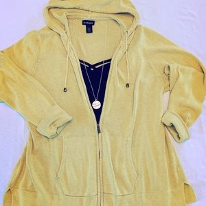 Lane Bryant Sweaters - Lane Bryant Sweater Hoodie Light Green 22/24